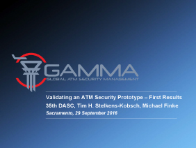 Validating an ATM Security Prototype – First Results 35th DASC, Tim H. Stelkens-Kobsch, Michael Finke Sacramento, 29 September 2016